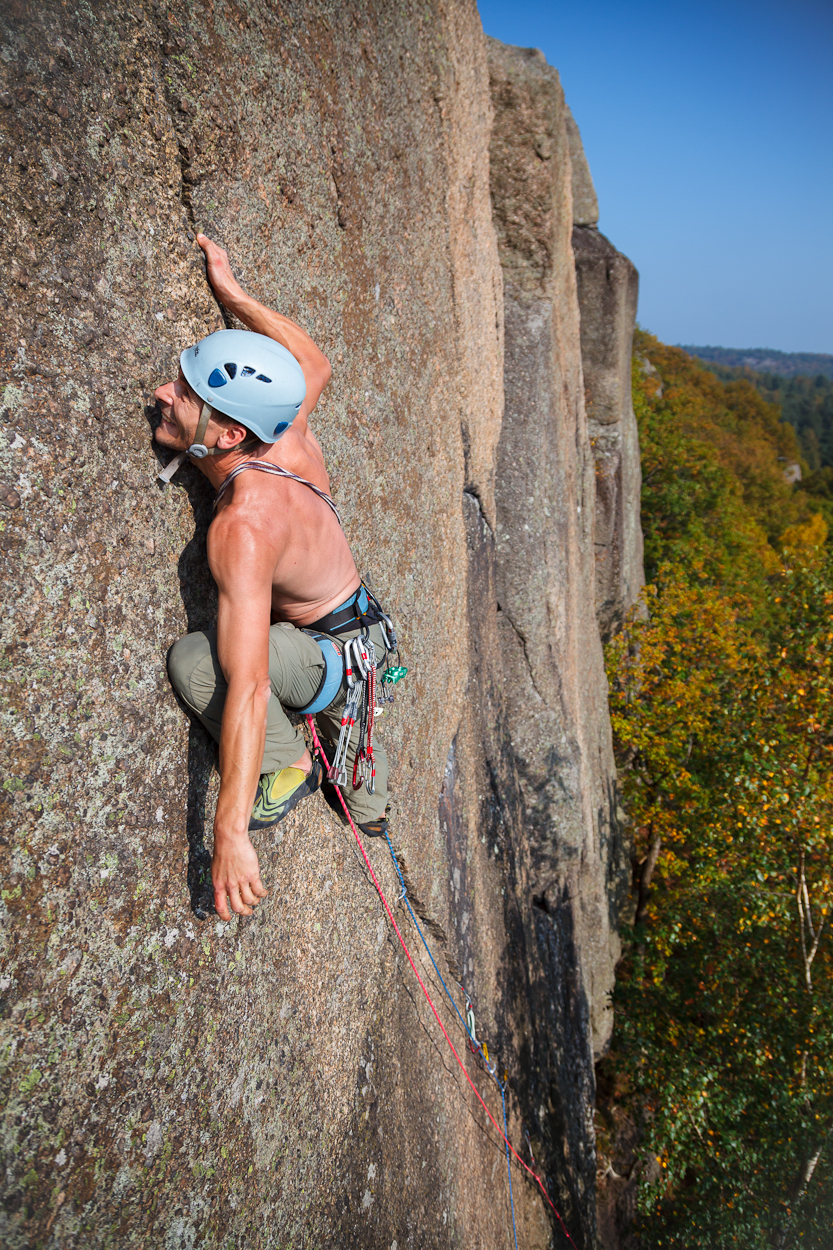 Autumn climbing in Sweden